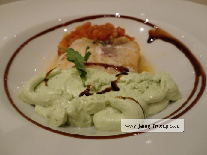 Chilean Sea Bass with Avocado Mousse