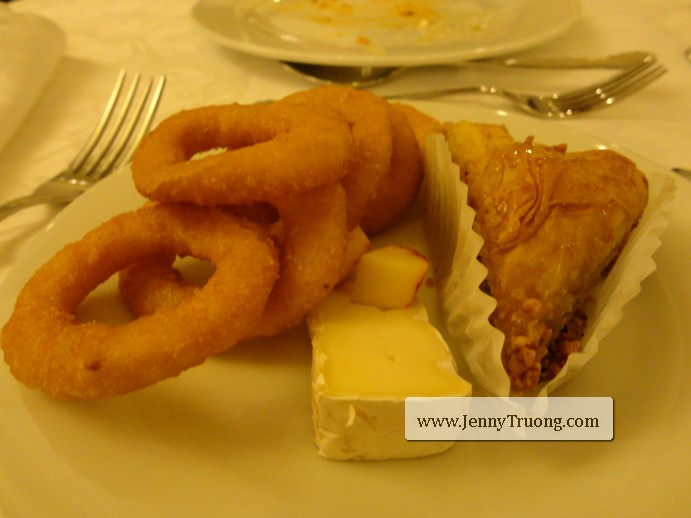 Onion Rings and Baklava