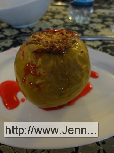 Baked apple with cinnamon